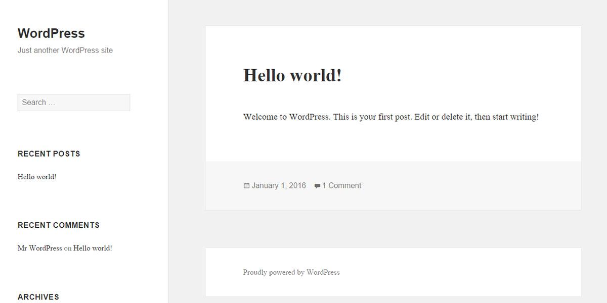 wordpress-front